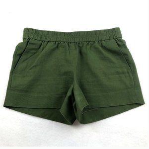 J. Crew Olive Green Boardwalk Pull-On Shorts SZ 0